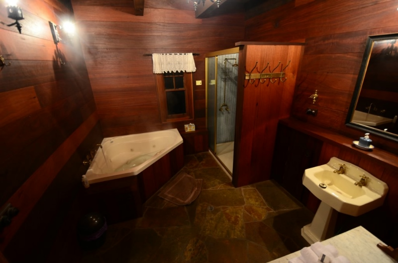 Bathroom with Heated Spa and Dual Shower