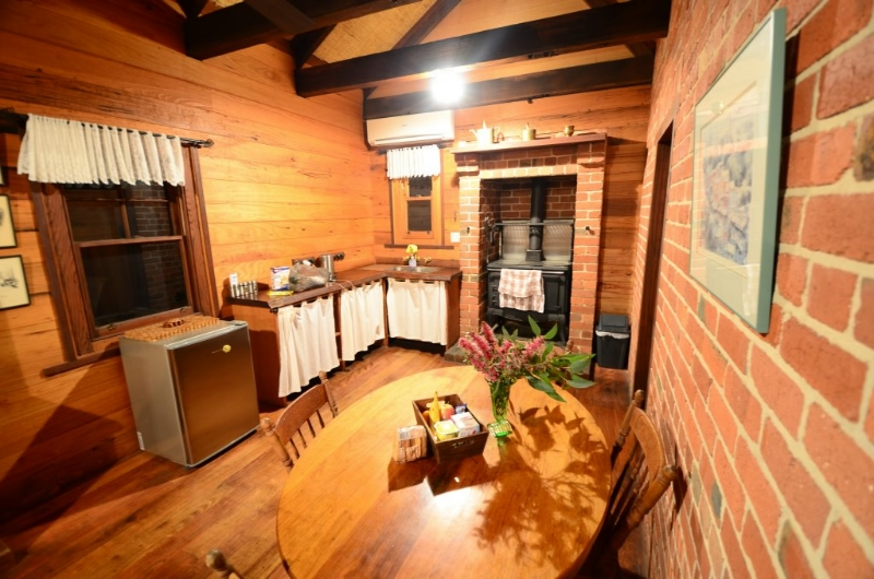Open plan Kitchen with classic wood stove
